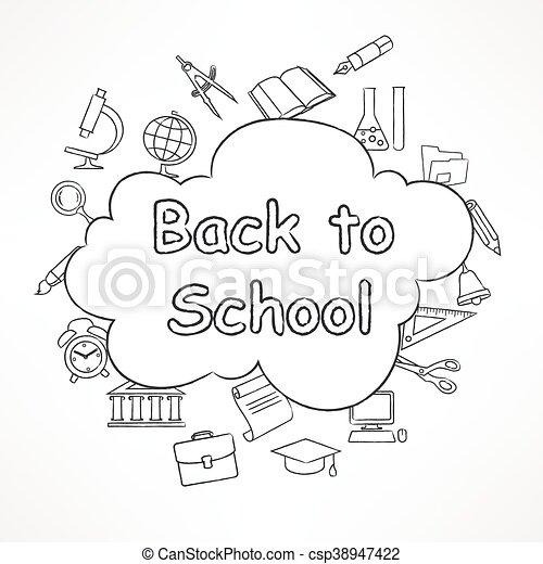 Freehand school illustration - csp38947422