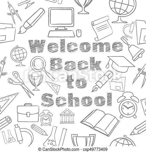 Freehand school illustration - csp49773409