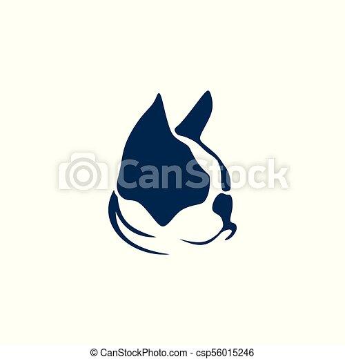 French bulldog and cat vector illustration - csp56015246