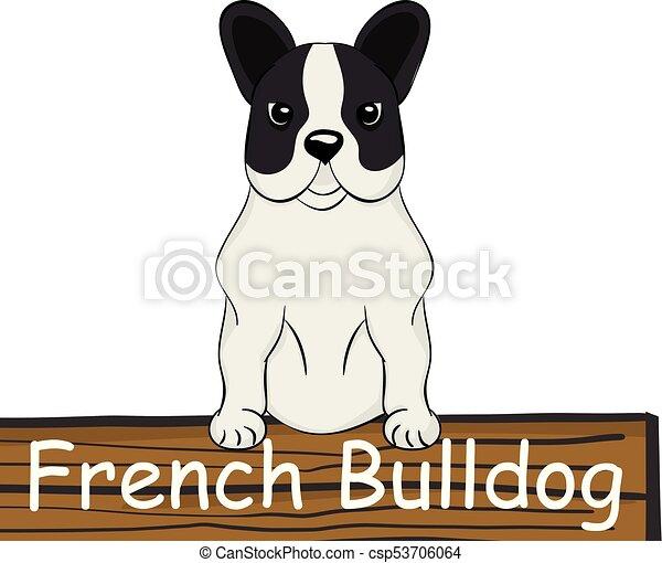 French Bulldog cartoon dog icon - csp53706064