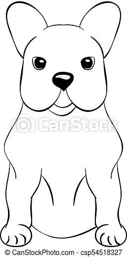 French Bulldog cartoon dog icon - csp54518327