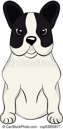 French Bulldog cartoon dog icon - csp53850677