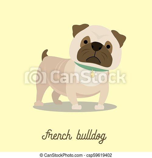 French Bulldog, cartoon vector - csp59619402