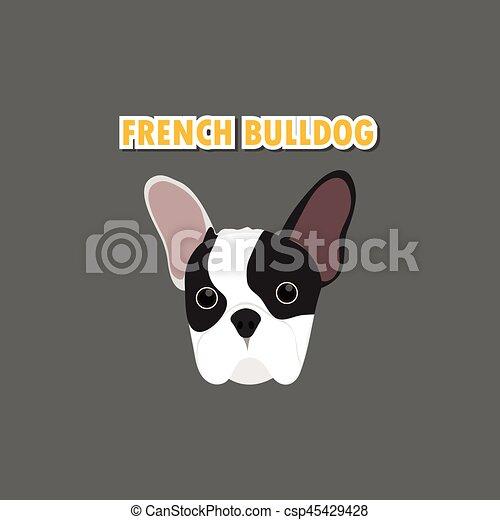 French Bulldog dog vector - csp45429428