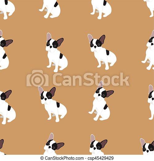 French Bulldog dog vector - csp45429429