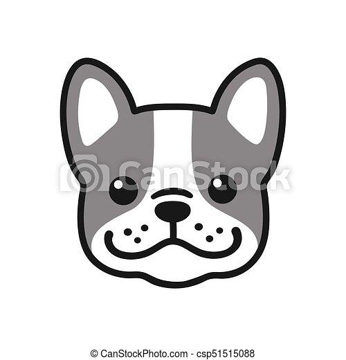 French Bulldog face - csp51515088