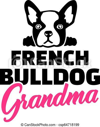 French Bulldog Grandma - csp64718199