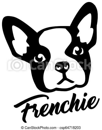 French Bulldog head - csp64718203