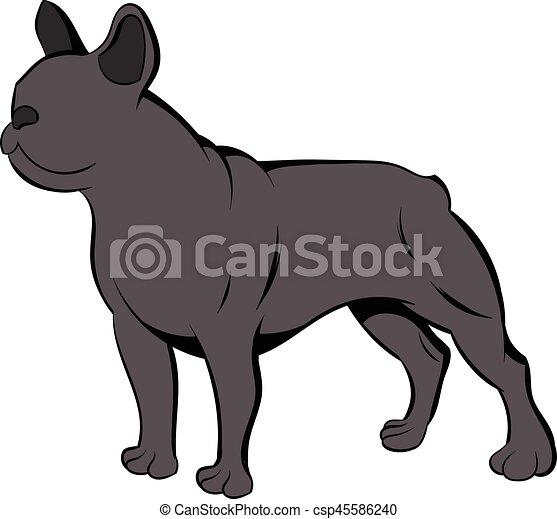 French bulldog icon cartoon - csp45586240