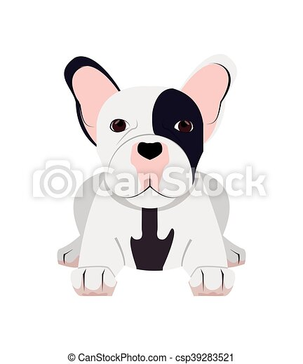 french bulldog icon - csp39283521