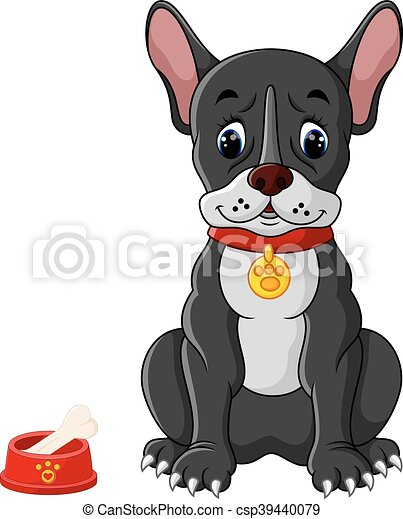 French bulldog sitting - csp39440079