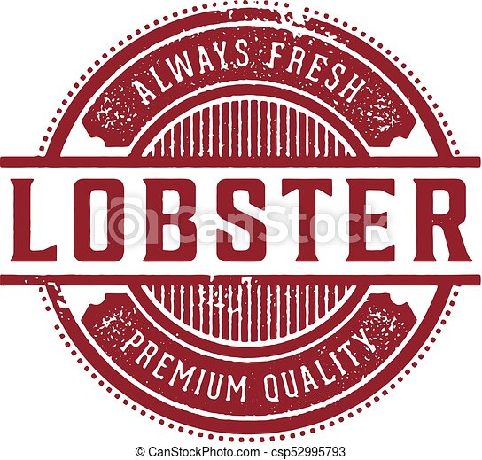 Fresh Lobster Restaurant Sign - csp52995793