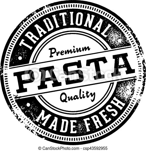 Fresh Pasta Vintage Sign - csp43592955
