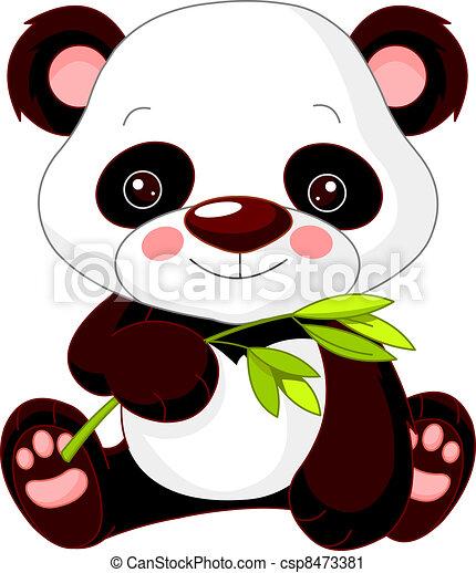 Fun zoo. Panda - csp8473381