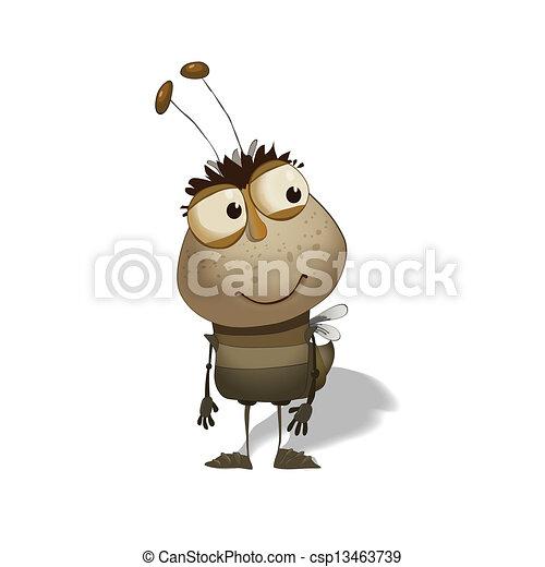 funny bug cartoon - csp13463739