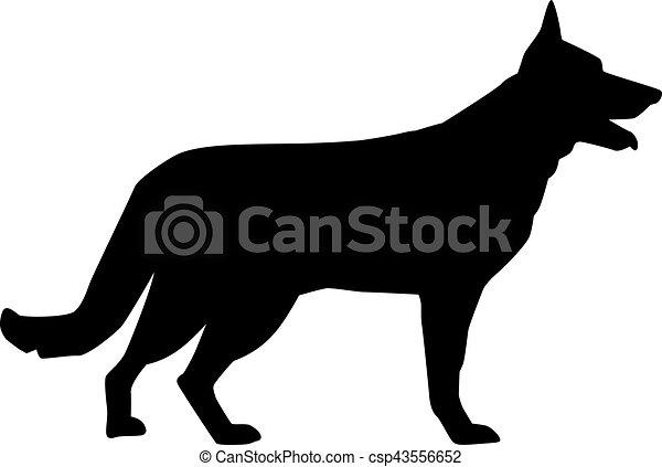 German Shepherd silhouette - csp43556652