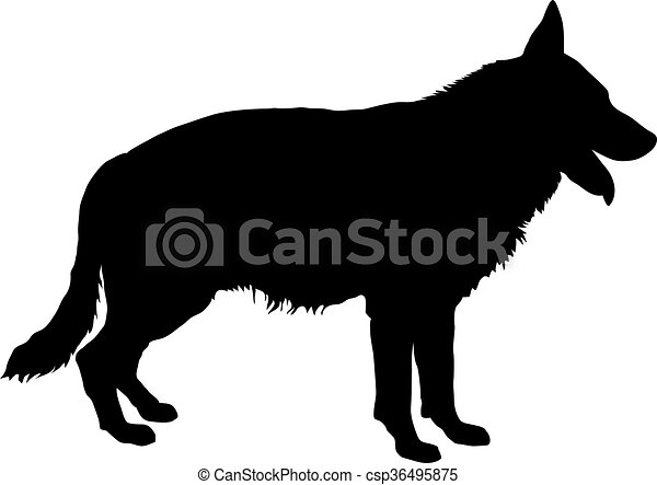German Shepherd Silhouette - csp36495875