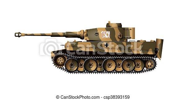German tanks - Tiger I - csp38393159