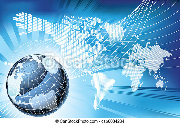 Globe Word Map of Earth Background - csp6034234