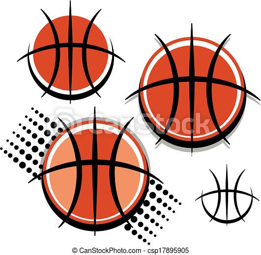 graphic basketball - csp17895905