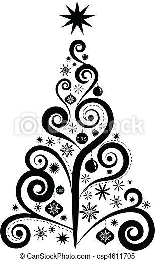 Graphic Christmas tree - csp4611705