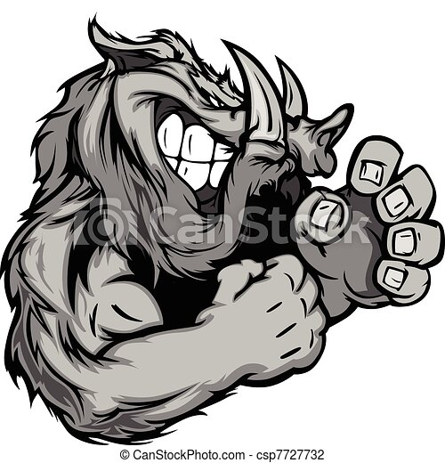 Graphic Vector Image of a Boar or W - csp7727732