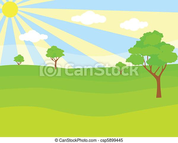 Green landscape - csp5899445
