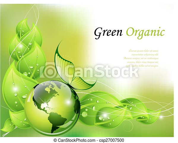 Green organic background - csp27007500