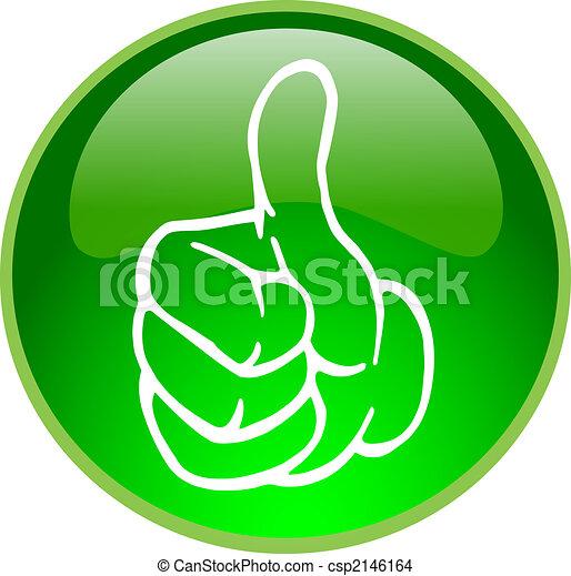 green thumb up button - csp2146164