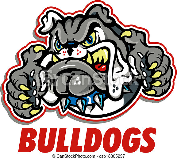 growling bulldog mascot - csp18305237