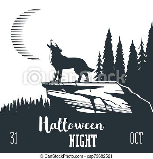 Halloween night concept 02 - csp73682521