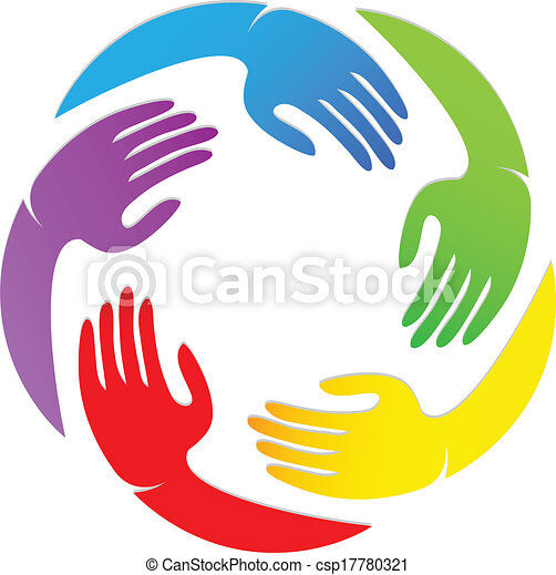 Hands around logo design - csp17780321