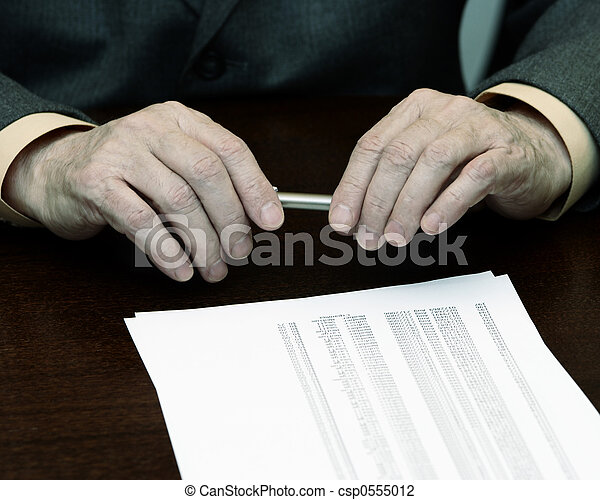 hands of the businessman - csp0555012