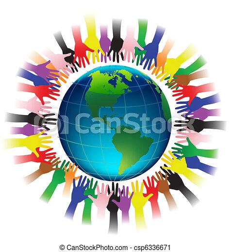 Hands reaching earth - csp6336671