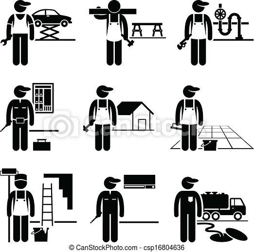 Handyman Skilled Jobs Occupations - csp16804636