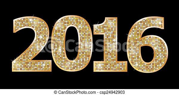 Happy New Year 2016 - csp24942903