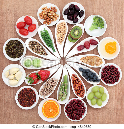 Health Food Platter - csp14849680