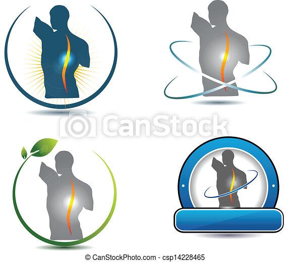 Healthy spine symbol - csp14228465