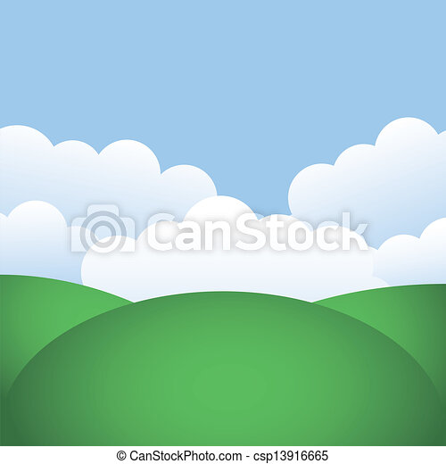 hills and blue sky - csp13916665
