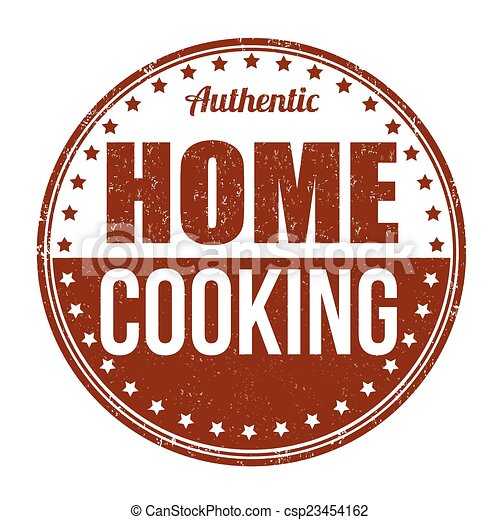 Home cooking stamp - csp23454162