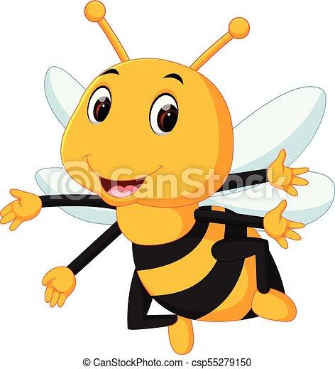 honey bee on a white background - csp55279150