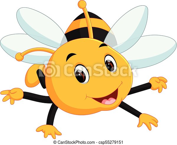 honey bee on a white background - csp55279151
