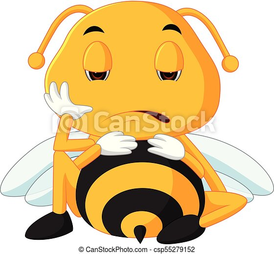 honey bee on a white background - csp55279152