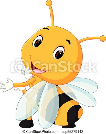honey bee on a white background - csp55279142