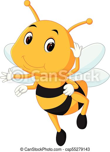 honey bee on a white background - csp55279143