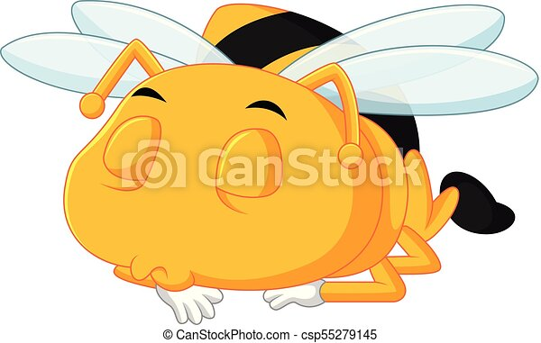 honey bee on a white background - csp55279145