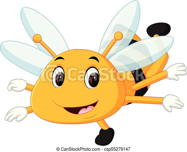 honey bee on a white background - csp55279147