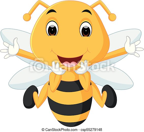 honey bee on a white background - csp55279148