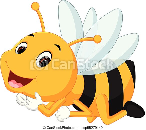 honey bee on a white background - csp55279149