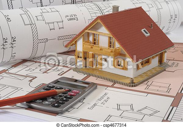house building blueprint - csp4677314